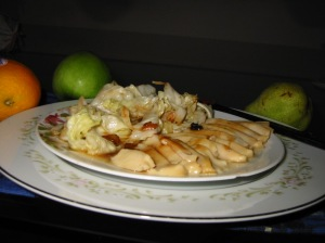 Abalone with Cabbage